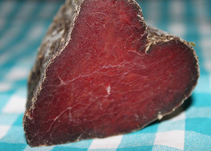 Trockenfleisch aus Bio Rindfleisch